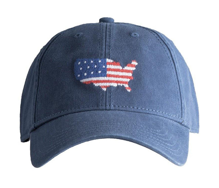 USA on Navy Blue Hat