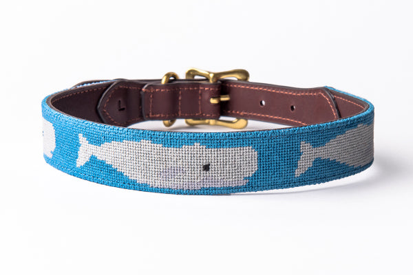 White Whale Dog Collar