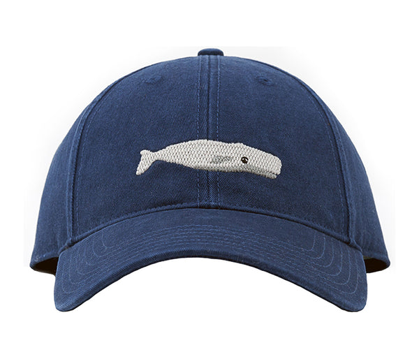 White Whale on Navy Blue Hat