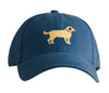 Yellow Lab on Navy Hat