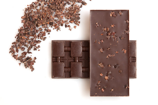 Dark Chocolate with Cocoa Nibs - Origin Bar