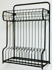 Rustic Industrial Wall or Counter Iron Plate, File Folder Rack
