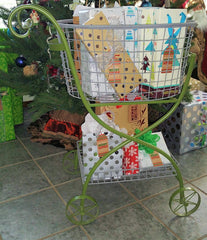Glory & Grace Vintage Inspired Laundry Cart, Removable Wire Baskets