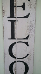 "Rustic Farmhouse 47"" Wood WELCOME Sign"