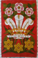 Vintage Prince of Wales Ich Dien Tea Towel