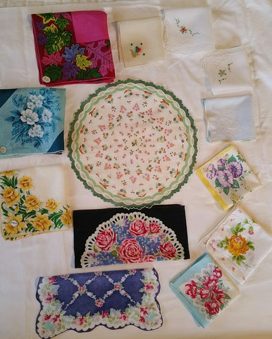 Lot of New Old Stock Vintage Handkerchiefs