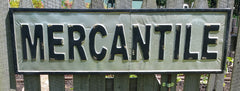 Large General Store Embossed Metal MERCANTILE Sign