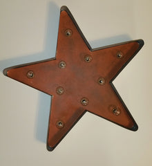 "Rustic Farmhouse 18"" Galvanized Star Light 10 LED bulbs"