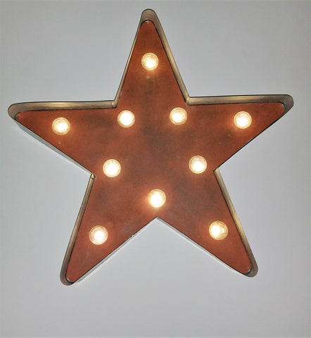 Rustic LED Lighted Galvanized Star
