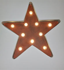 "Rustic Farmhouse 18"" Galvanized Star Light"