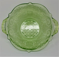 Lancaster Debra Depression Glass Bowl interior