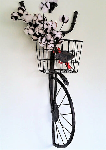 Vintage Inspired Bicycle Wire Wall Basket
