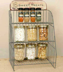 Rustic Industrial~ Country General Store ~SWEET TREATS~ Countertop Shelf Rack