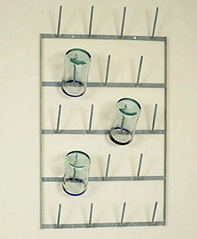 Glory & Grace Rustic Industrial French 18 arm Bottle Tree Glass Drying Dryer Rack