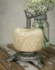 Rustic French Garden Cast Iron Song Bird Twine, Toilet Tissue Holder