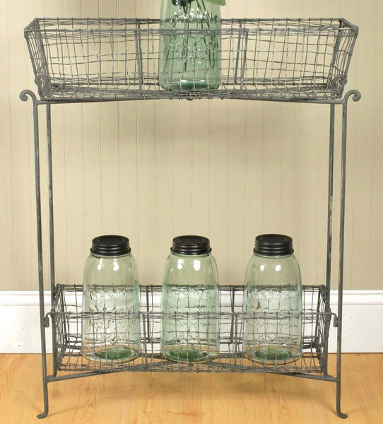 Rustic General Store Farmhouse Catch-all Stand