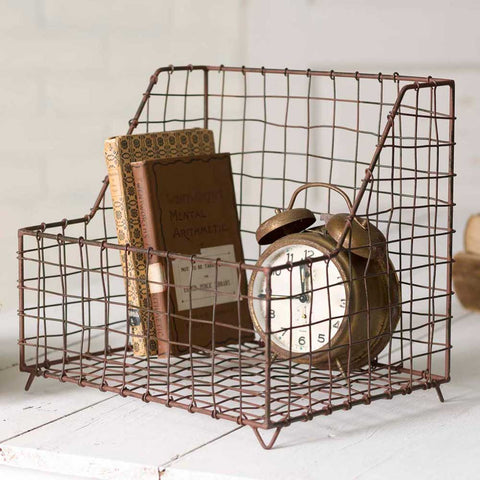 Rustic Industrial General Store Wire Basket