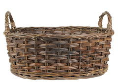 Set of 3 Hand Woven, Heirloom Quality Oval Willow Wicker Baskets