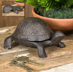 Cast Iron Garden Turtle Trinket, Key Box