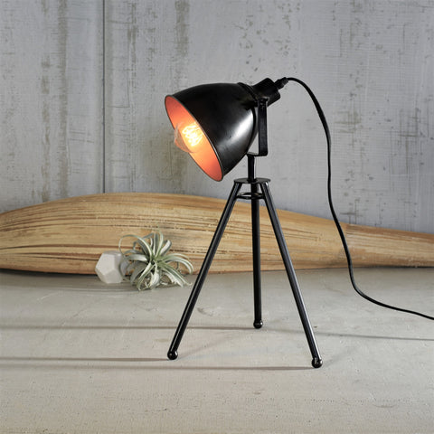 Modern Industrial Director's Table Lamp