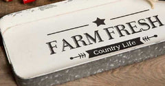 Galvanized Farm Fresh Tray