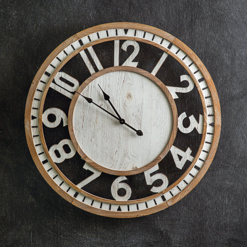 Langdon Wood Wall Clock