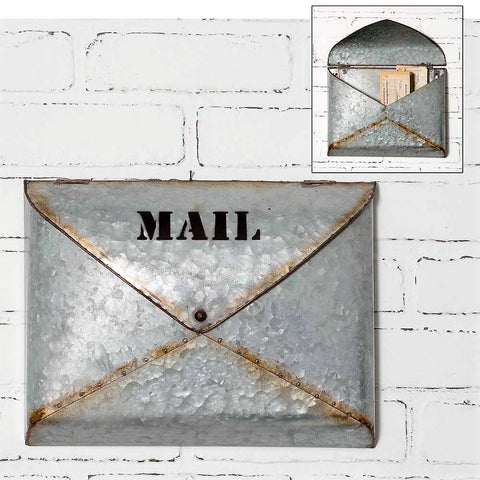Galvanized Envelope Style Mail Box