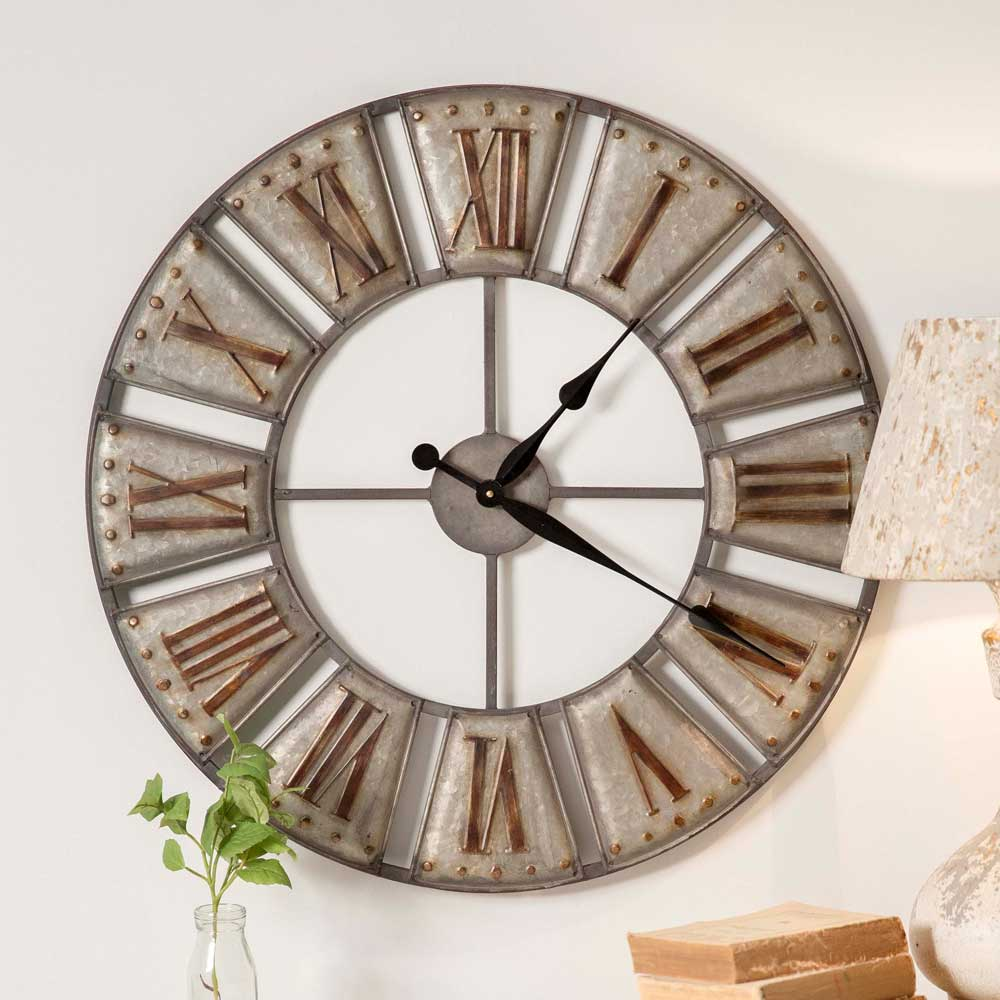 Large Industrial Farmhouse Galvanized Big Ben Wall Clock