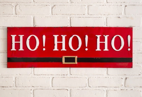 Ho! Ho! Ho! Metal Wall Sign