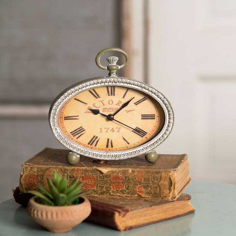 Victoria Oval Table Clock