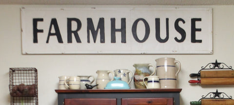 "56"" Huge FARMHOUSE Southern Industrial Embossed Metal Sign"