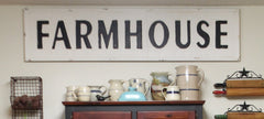 "56"" Huge FARMHOUSE Rustic Industrial Embossed Metal Sign"