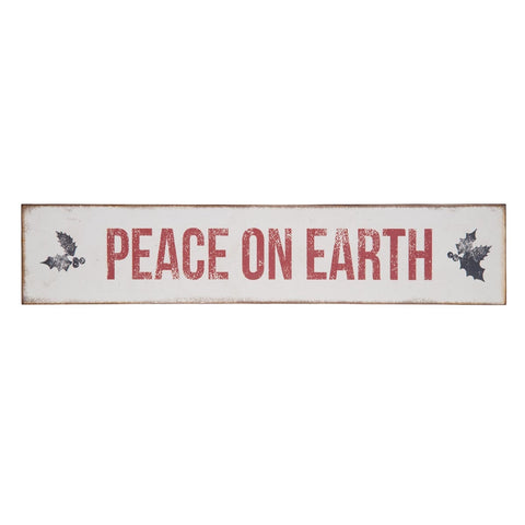 PEACE ON EARTH Wall or Door Sign Decor