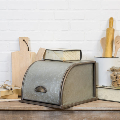 Vintage Inspired Metal Bread Box