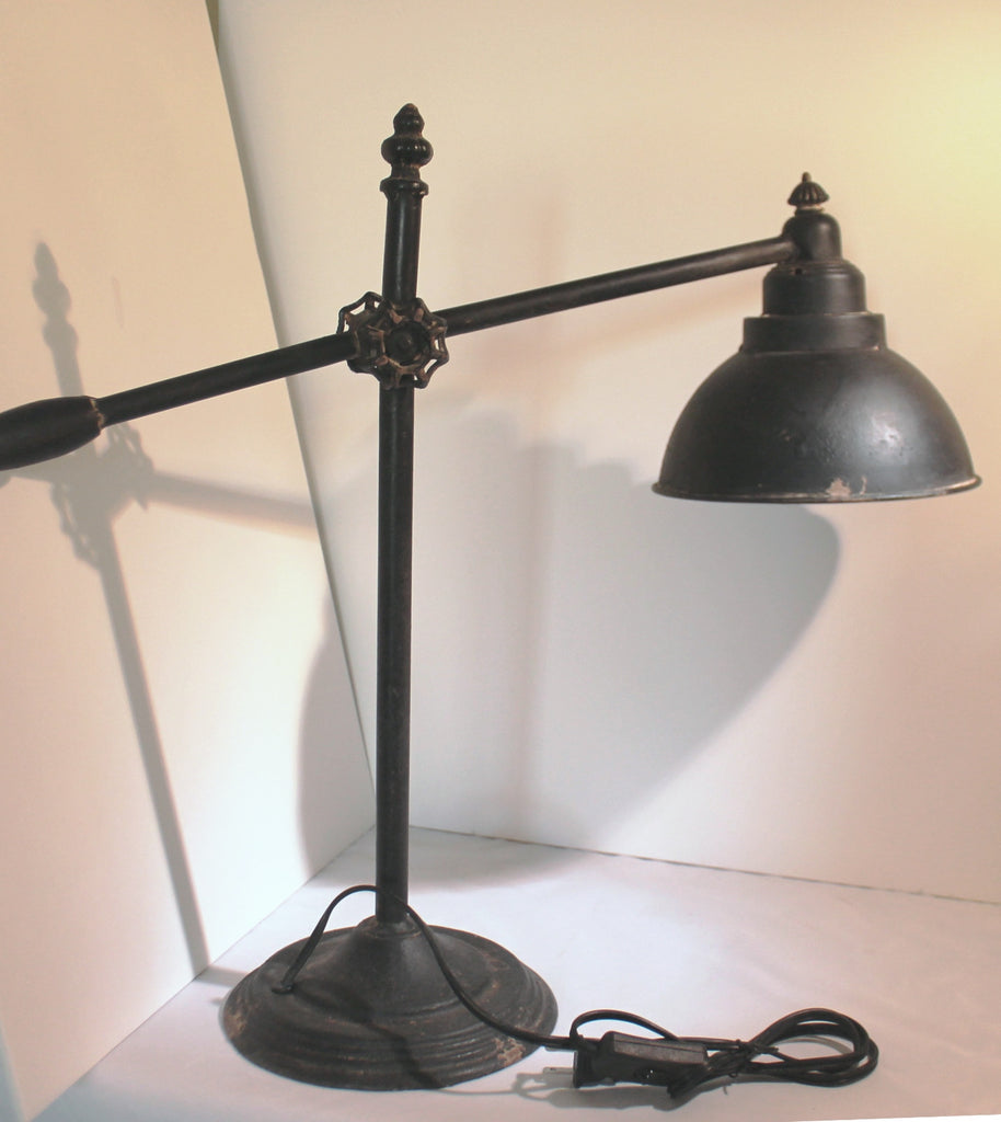 Tall Rustic Modern Vintage Industrial Swing Arm Iron Table Lamp Glory Grace