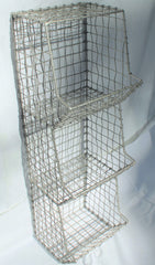 Glory & Grace Large Rustic Industrial Metal & Wire General Store Rack