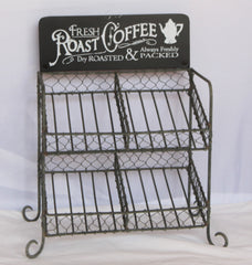 Fresh Roast Coffee Metal K-Cup Coffee Bar Single Serve Caddy Rack