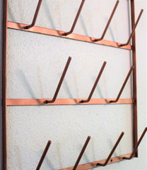 Glory & Grace Rustic Industrial Copper Wall Mount 18 Arm Bottle Tree Glass Drying Mug Dryer Rack