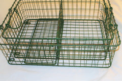 Green Metal General Store Cubbie Shelves, Set of Two