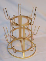 DuChamp Inspired Rustic French Iron Wine Bottle Tree Glass Mug Dryer Rack