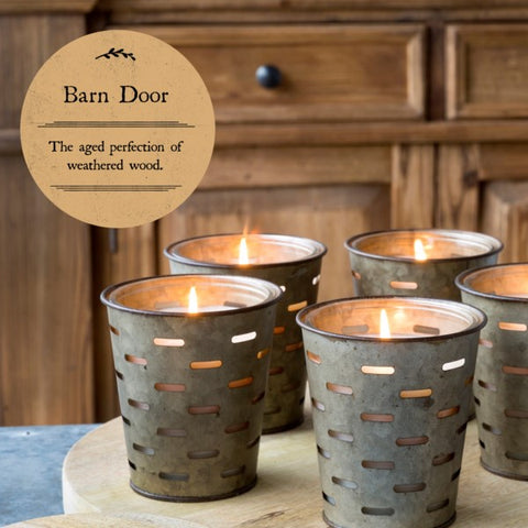 Olive Bucket Candle, BARN DOOR Fragrance