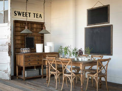 "Huge 57"" Vintage Inspired Embossed Metal SWEET TEA Sign"