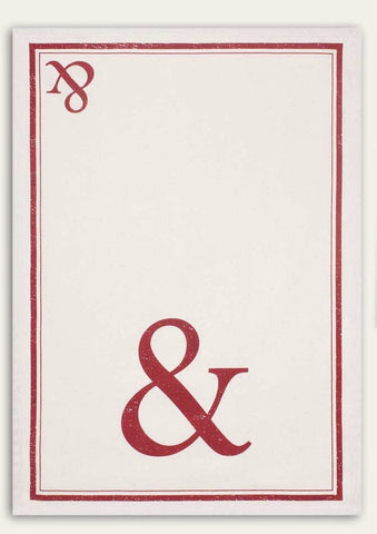 Red Ampersand Feedsack 100% Cotton Kitchen Tea Towels, Set of Two