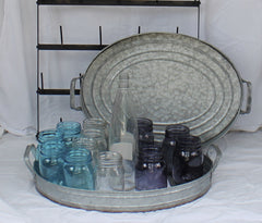 Big Rustic Farmhouse Galvanized Serving Tray