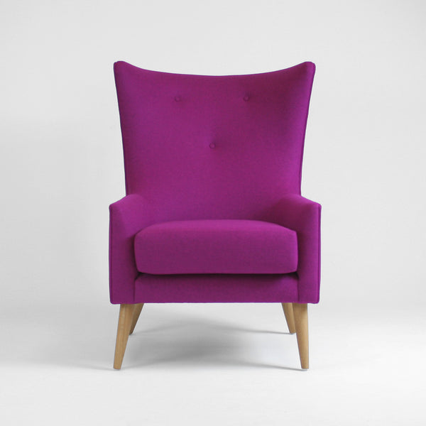 wingback chair - pink