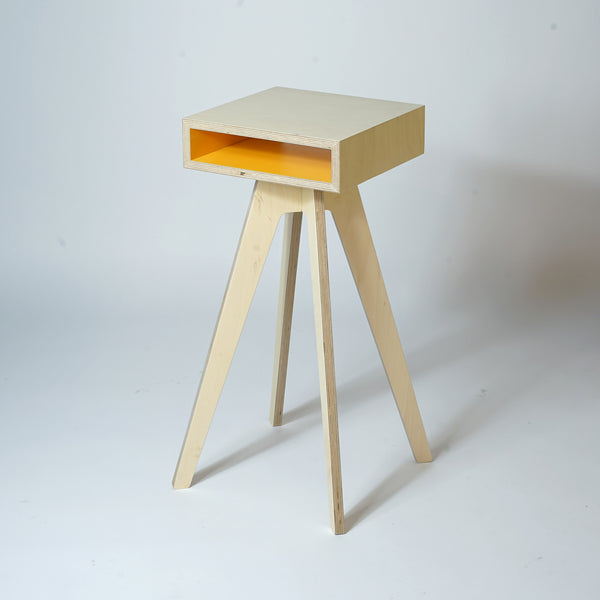 Plywood Side Table - Yellow
