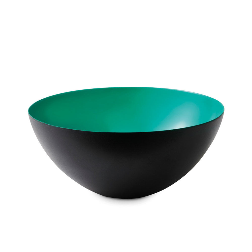 Normann Krenit Bowl Turquoise Black Metal diam12.5 352565