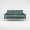 WOOD & WIRE - PECKET WIDE - Mid Century Style 2 Seater Sofa