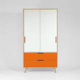 WOOD & WIRE - Rufus Wardrobe