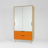 freestanding plywood wardrobe